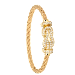 Bracelet Fred Chance Infinie Or Jaune Pavage Diamants Cable Or 0B0101-6B0108