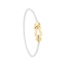 Bracelet Fred Force 10 MM Or Jaune corderie Blanche 0B0069-6B0285