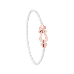 Bracelet Fred Force 10 MM Or Rose corderie Blanche 0B0072-6B0286