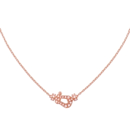 Collier Fred Force 10 7B0190 or rose pavage diamants