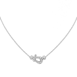Collier Fred Force 10 7B0191 or blanc pavage diamants